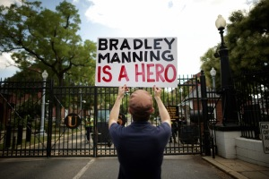 Bradley Manning Supporters Rally In Washington As Military Judge Deliberates